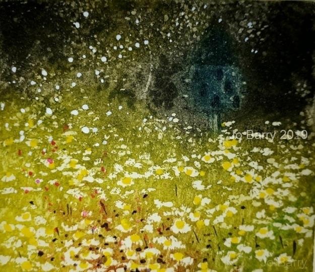 'Benediction of sunlight -Etching -8 cm x 9 cm