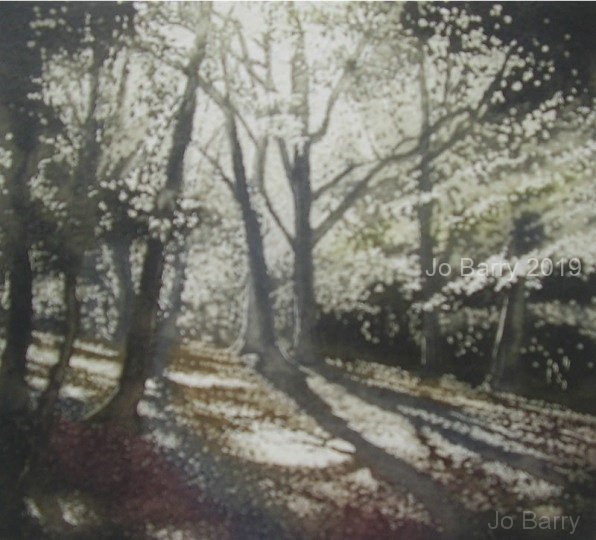 """Enchanted woods""     etching    18cm x 20cm"