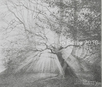 Sunrise - Pencil Drawing - 21 x 24 cm