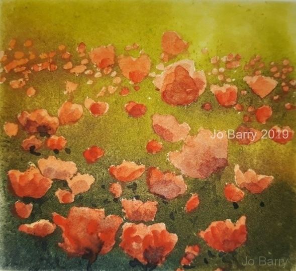 The Blushing print - Etching 6.5 x 7 cm