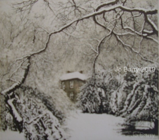 The snow lay roundabout - Etching