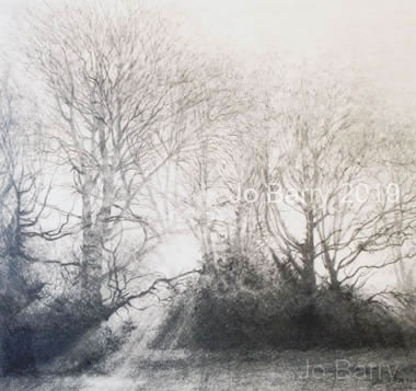 Early morning - pencil drawing 14 x 16.5 cm