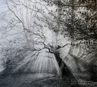 Transfiguration - Pencil Drawing - 23 x 26 cm