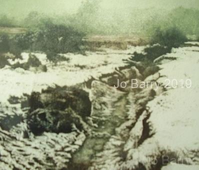 Winterbourne - Etching 17 x 20 cm